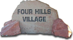 Four Hills Village sign